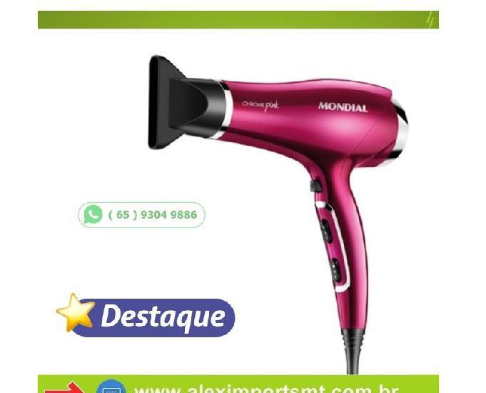 Secador de cabelo mondial chrome pink 2000w 127v - sc-36666