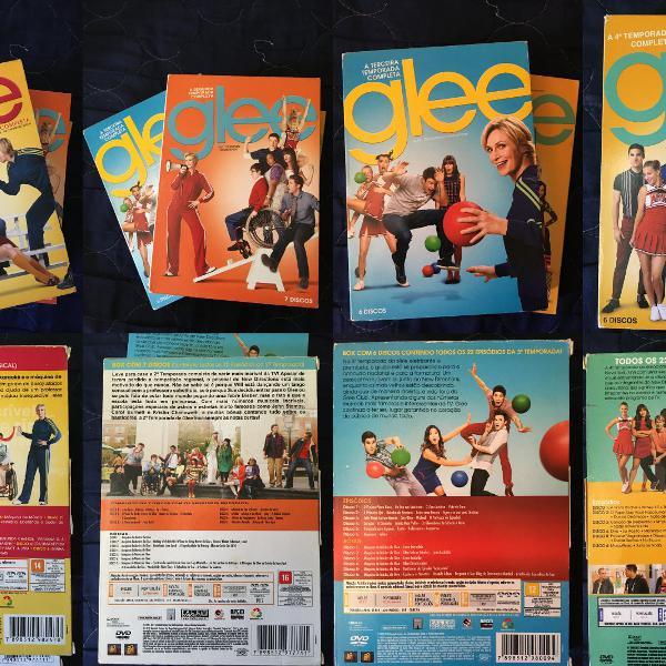 Box glee 1 a 4 temporada