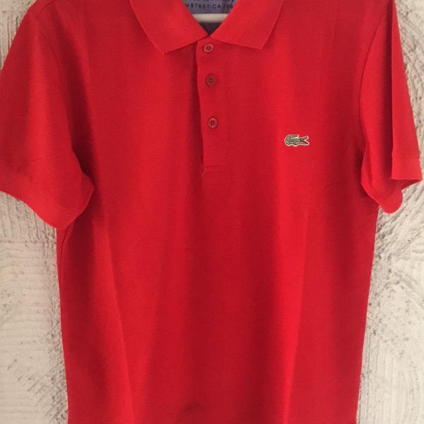 Camisa lacoste vermelha p
