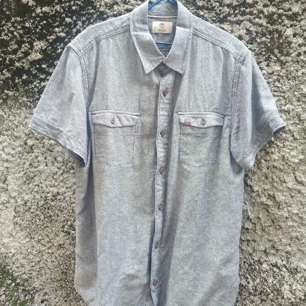 Camisa social manga curta timberland