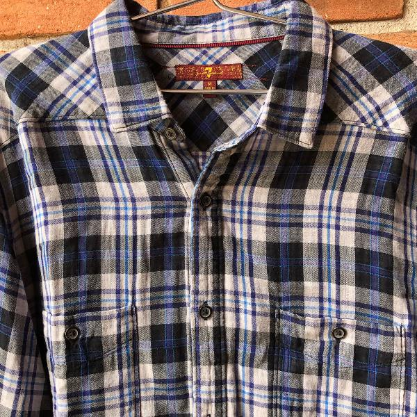 Camisa xadrez 7 for all mankind
