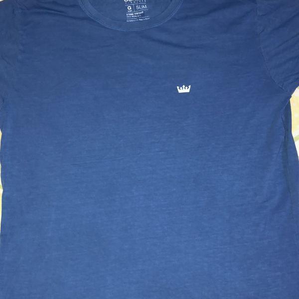 Camiseta osklen estampa frente e verso super estilosa com