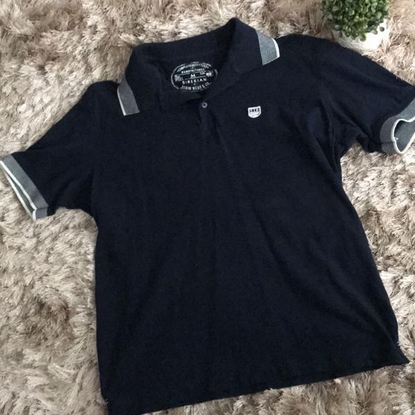 Camiseta polo siberian azul marinho com detalhes