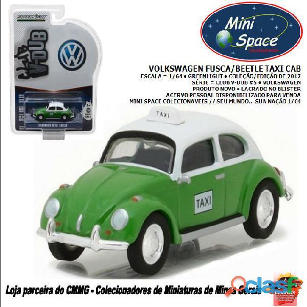 Greenlight volkswagen beetle/fusca taxi cor verde 1/64