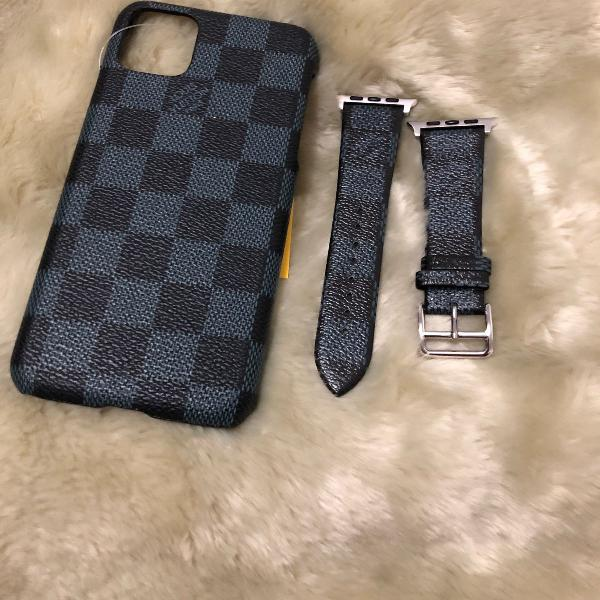Kit case e pulseira iwatch 42/44mm iphone 11 pro max louis
