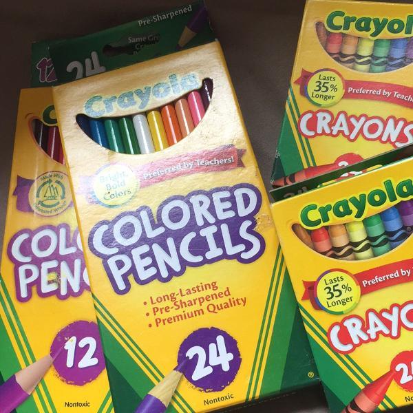 Kit lápis de cor e giz de cera crayola