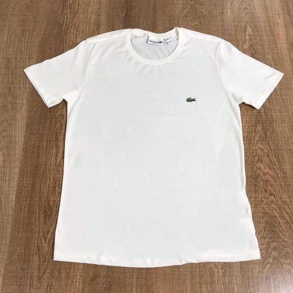 Lacoste camiseta masculina lisa creme
