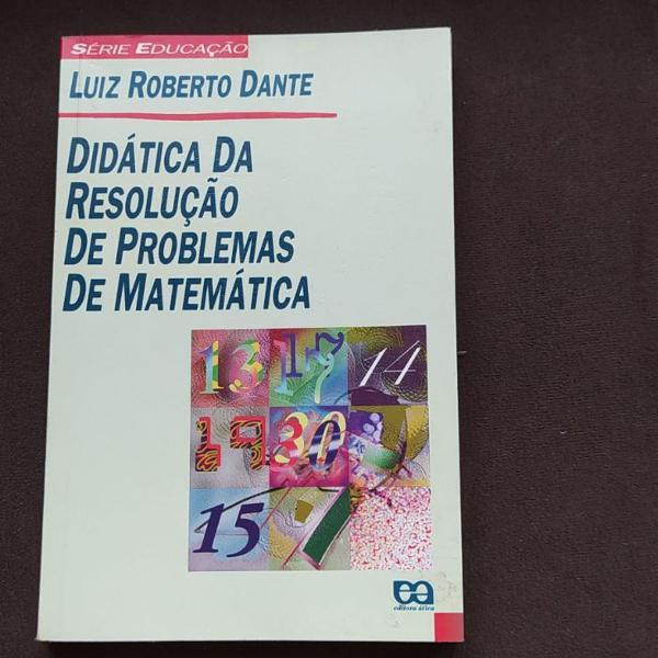 Livro didática da resolução de problemas de matemática