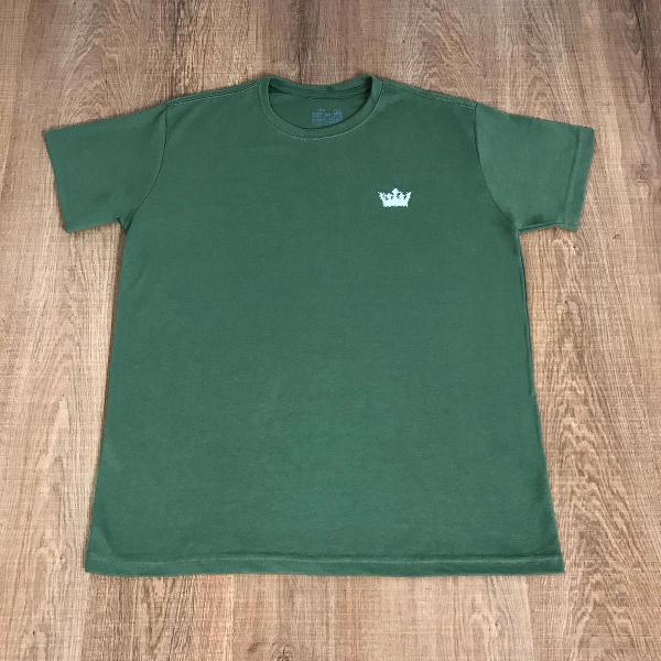 Osklen camiseta masculina frente lisa com estampa nas costas