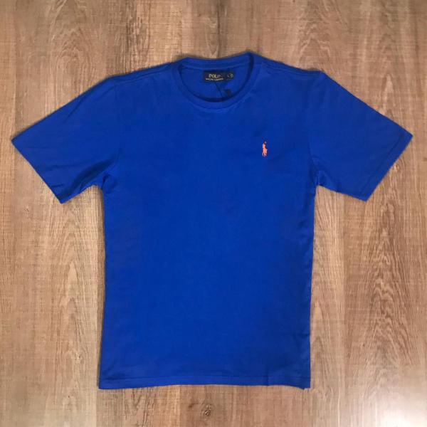 Rauph lauren camiseta masculina lisa com logo