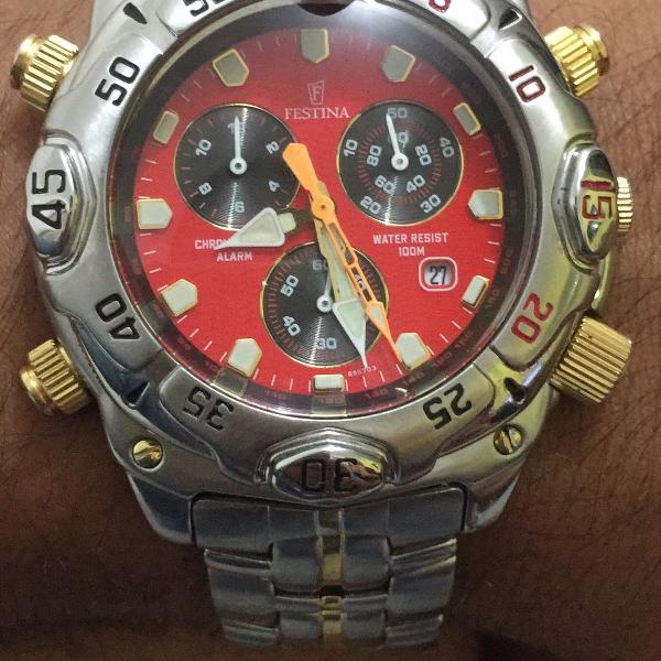 Relógio festina original 5 chave
