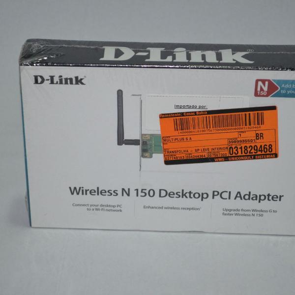 Wireless n 150 desktop pci adapter dwa-525 d-link