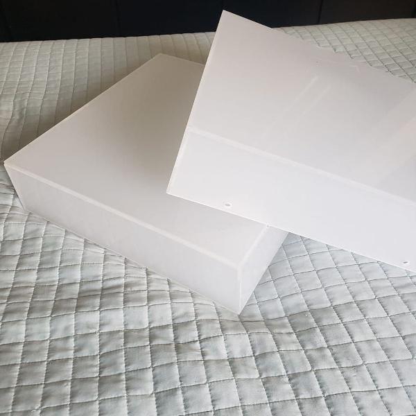 2 plafons de sobrepor acrilico 34x34 luminária de teto