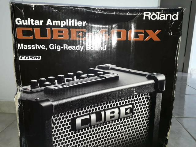 Amplificador de guitarra roland cube - 40 gx semi novo