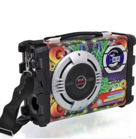 Caixa de som bluetooth portatil amplificada