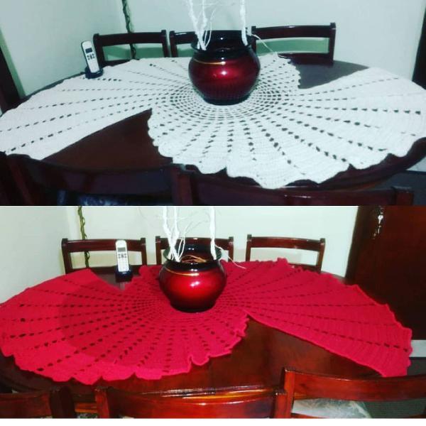 Caminho de mesa em Espiral