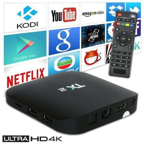 Conversor multimídia web smart tv tx2 wi-fi 4k 16gb 2gb