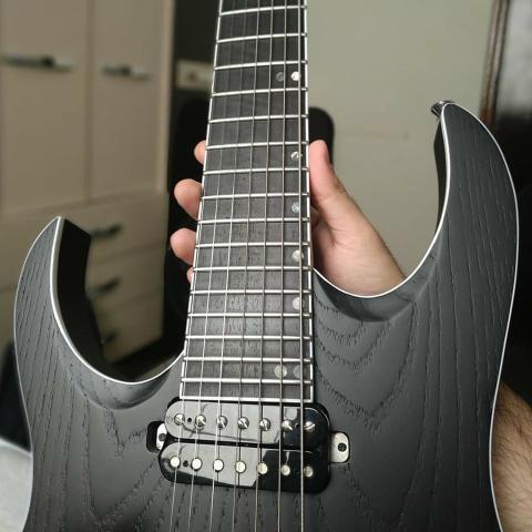 Guitarra canhota 7 cordas - luthier - ñ ibanez,fender, esp,