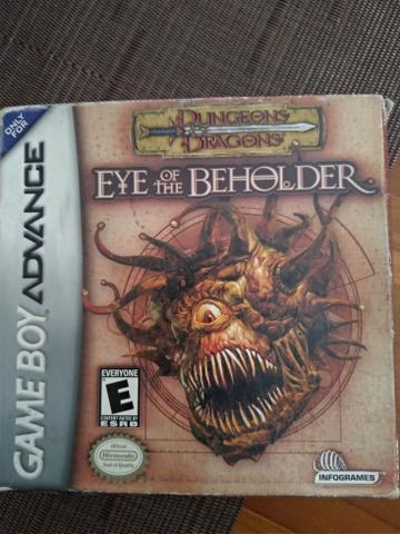 Jogo eye of the beholder game boy advanced