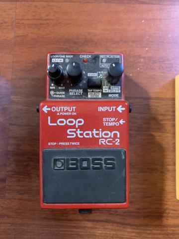 Kit pedais boss. loop station rc 2 + acoustic simulator +
