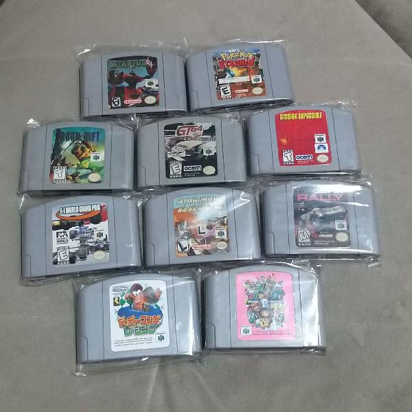 Lote 10 jogos nintendo 64 originais...