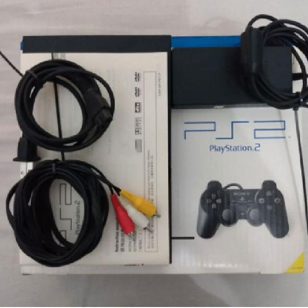 Playstation 2 slim preto