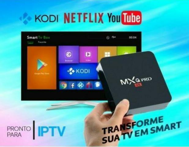 Tv box mxq pro + canais