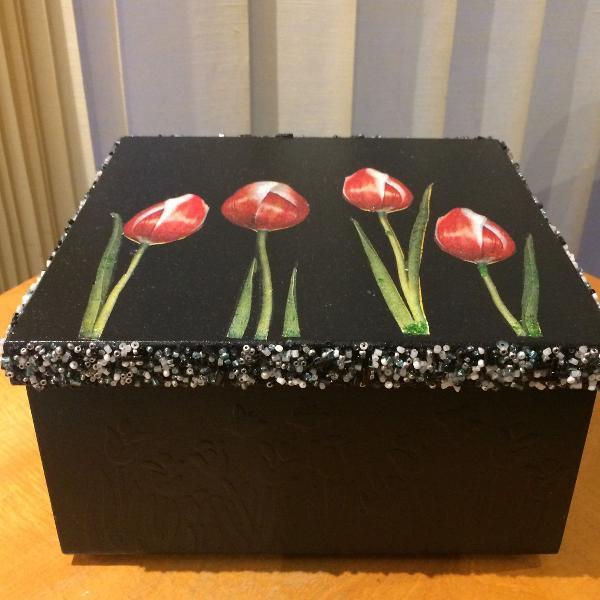 Caixa mdf decorada artesanal