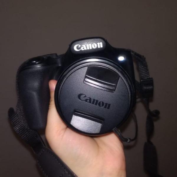 Câmera cânon powershot sx520 hs, com acessórios