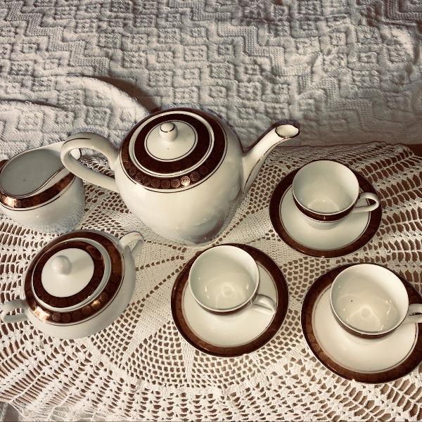 Conjunto de café da vovó
