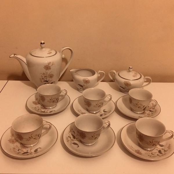 Conjunto de chá da vovó
