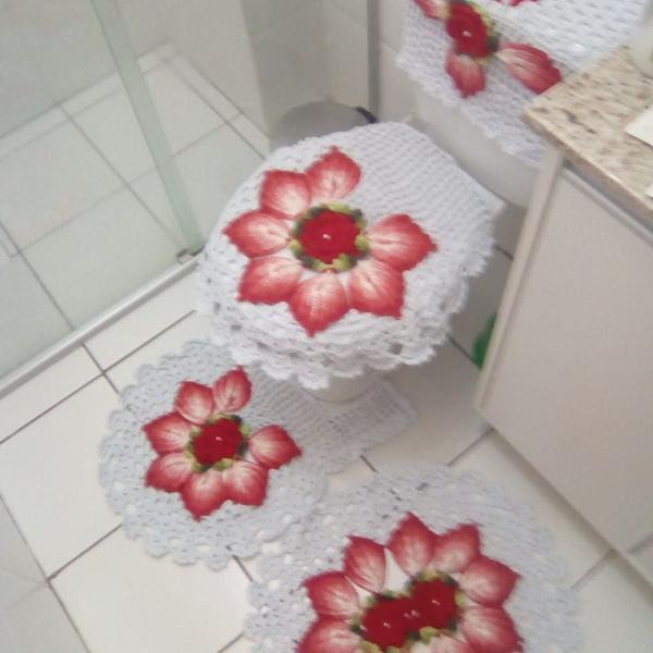 Jogo banheiro crochê