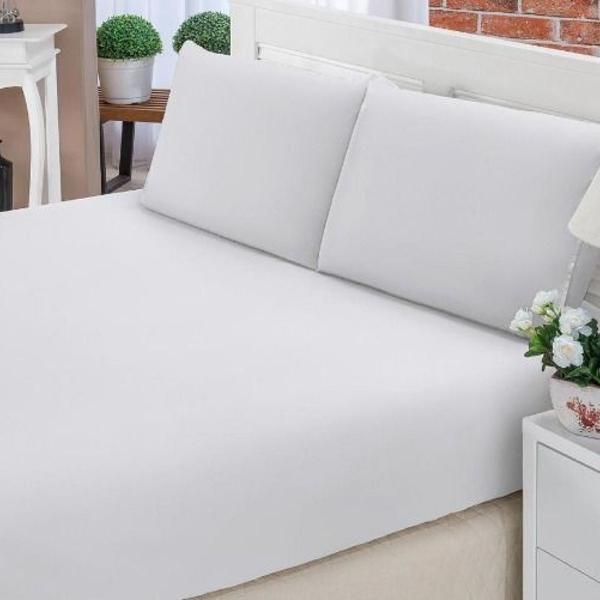 Jogo de lençol cama queen 3 peças percal 100% algodão 200
