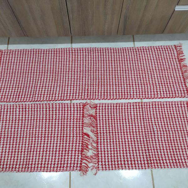 Jogo de tapetes para cozinha 3 pçs