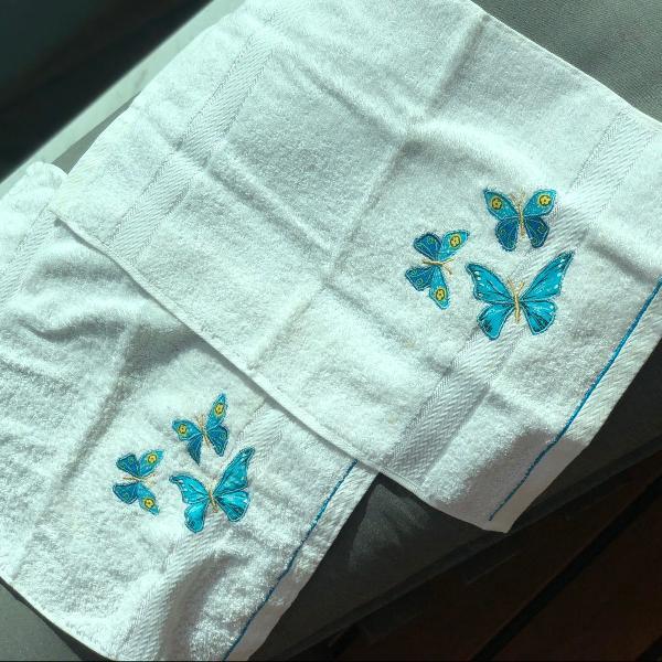 Kit toalhas de rosto charme