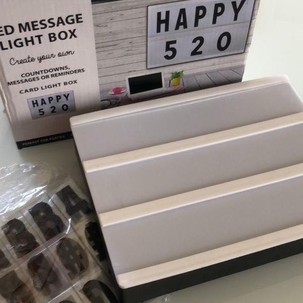 Letreiro led luminária com mais de 100 letras