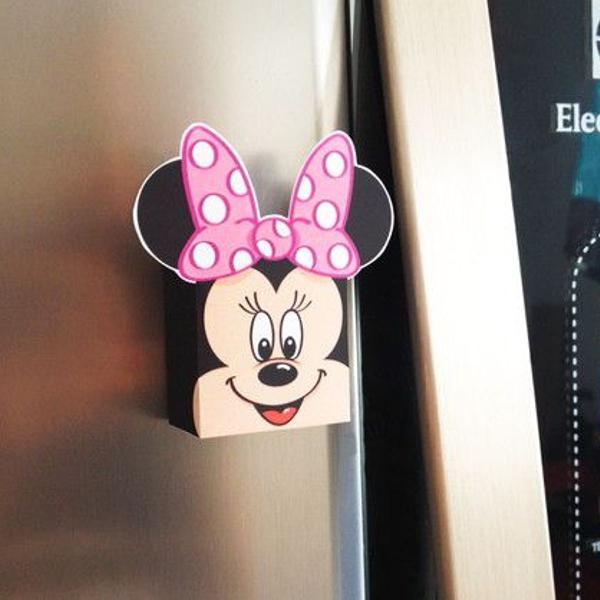 Mã minnie rosa paper toy