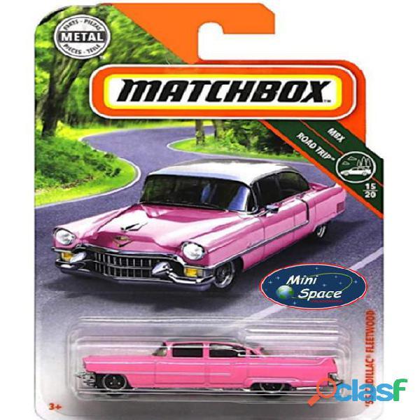 Matchbox 1955 Cadillac Fleetwood cor rosa 1/64 1