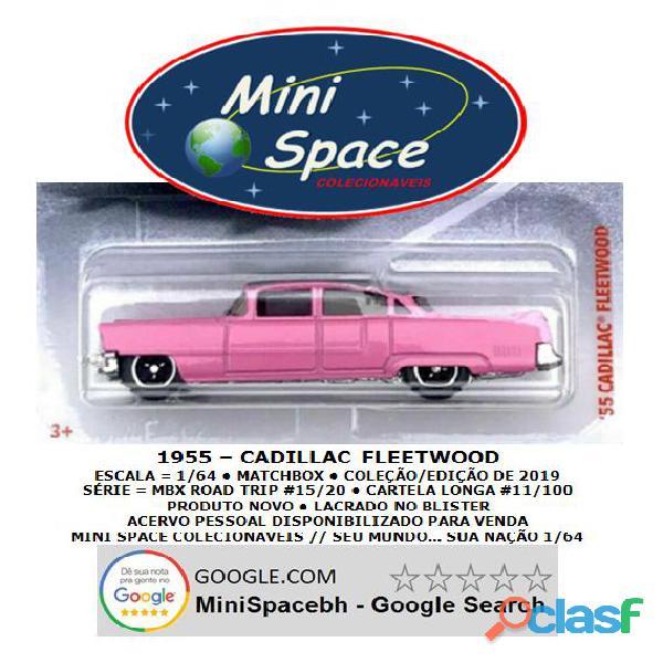 Matchbox 1955 Cadillac Fleetwood cor rosa 1/64 2