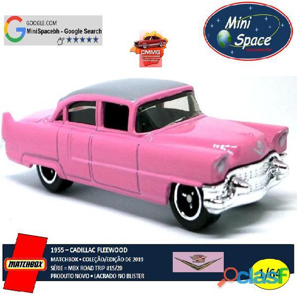 Matchbox 1955 Cadillac Fleetwood cor rosa 1/64 3