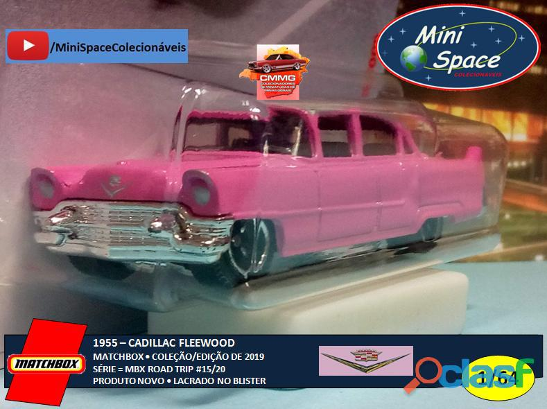Matchbox 1955 Cadillac Fleetwood cor rosa 1/64 4