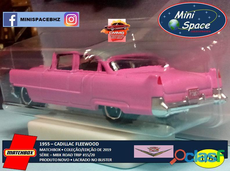 Matchbox 1955 Cadillac Fleetwood cor rosa 1/64 5