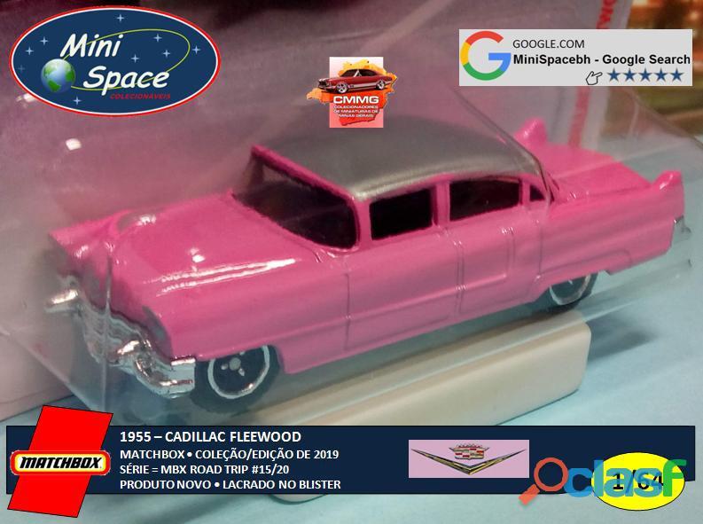 Matchbox 1955 Cadillac Fleetwood cor rosa 1/64 6