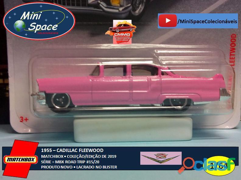 Matchbox 1955 Cadillac Fleetwood cor rosa 1/64 7