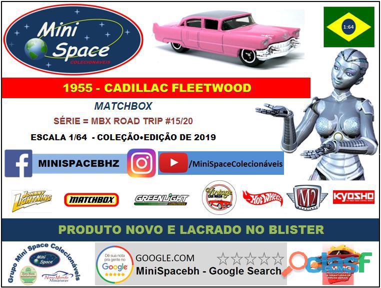 Matchbox 1955 Cadillac Fleetwood cor rosa 1/64 8
