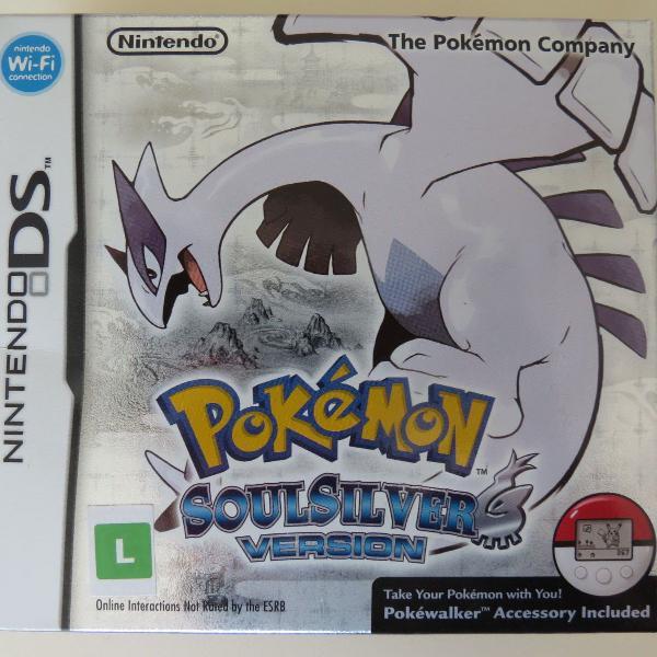 Pokémon soul silver com pokéwalker nintendo ds