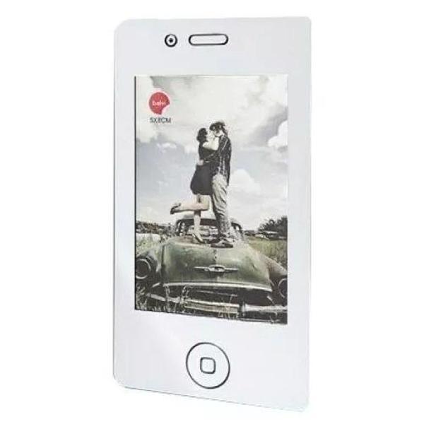 Porta retrato magnético telefone celular iphone preto fotos
