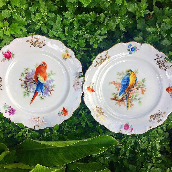 Pratos em porcelana
