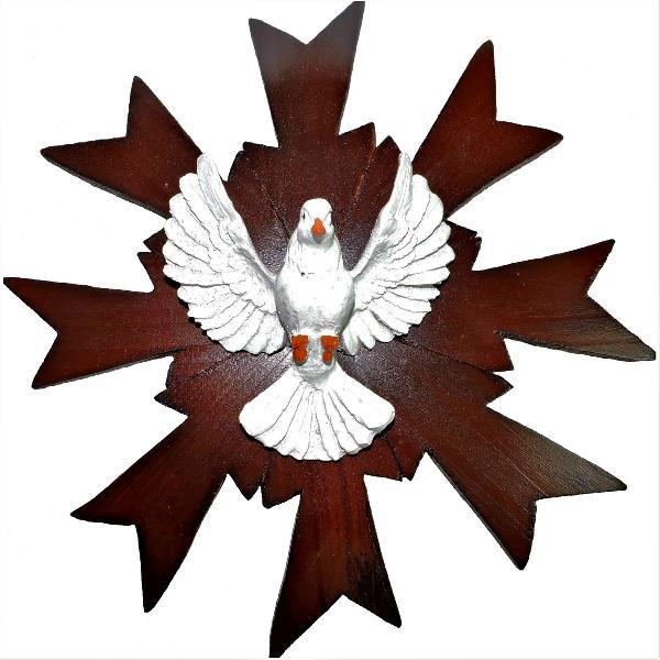 Resplendor divino espírito santo de parede talhado em