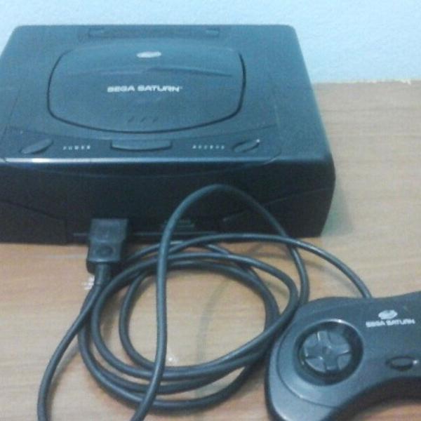 Sega saturn americano black completo